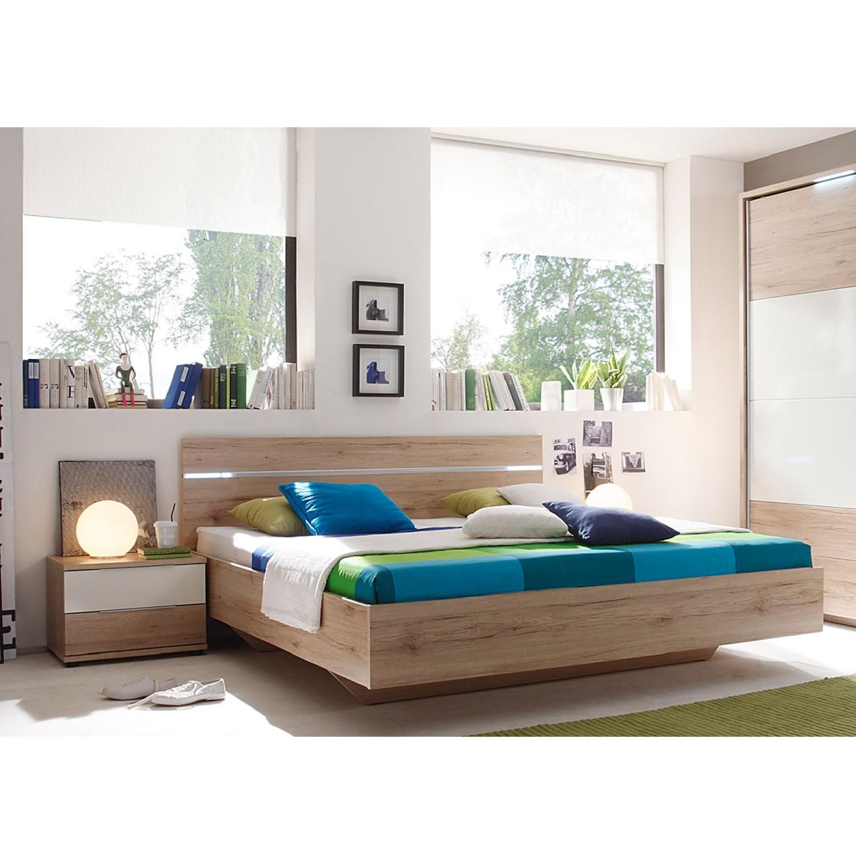 Schlafzimmermöbel - Bettanlage Pablo (3-teilig) - mooved - Braun