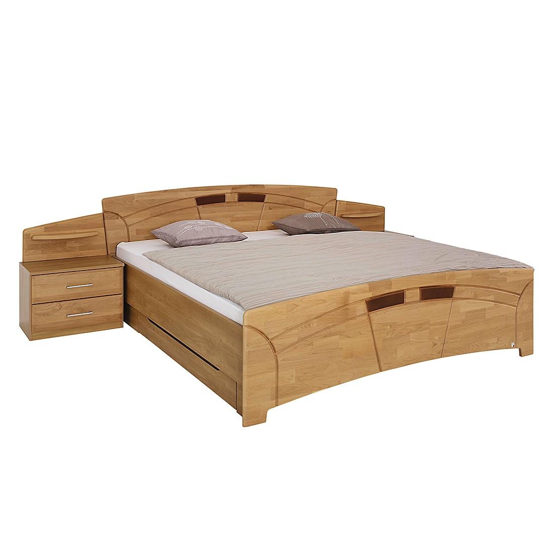 goedkoop Bed met nachtkastjes Sarah III gelakt deels massief elzenhout ligoppervlak: 200x200cm Rauch Steffen