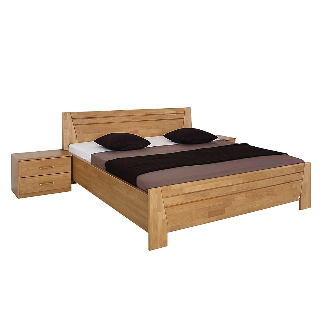 goedkoop Bed Sitara I gelakt deels massief elzenhout 200 x 200cm Rauch Steffen