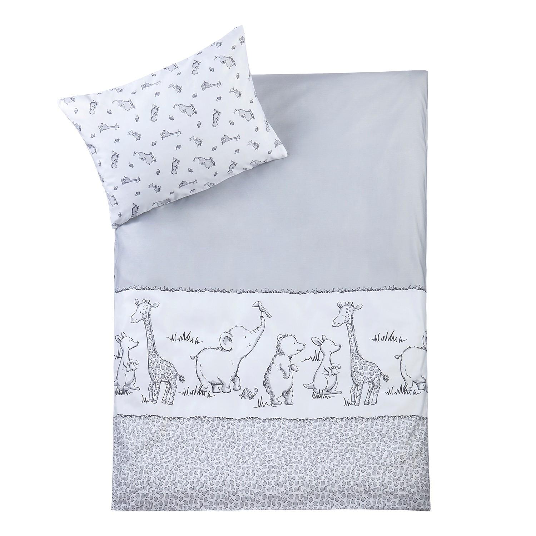 home24 Babybettwaesche Animal Safari | Kinderzimmer > Textilien für Kinder > Kinderbettwäsche | Grau | Textil | Julius Zoellner