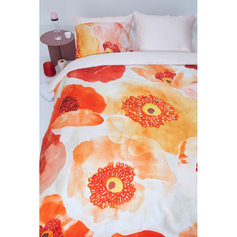 OILILY Bettwäsche Oilily Faded Poppy 155x220 cm (BxT) Baumwollstoff Orange/Rot Geblümt Modern, OILILY