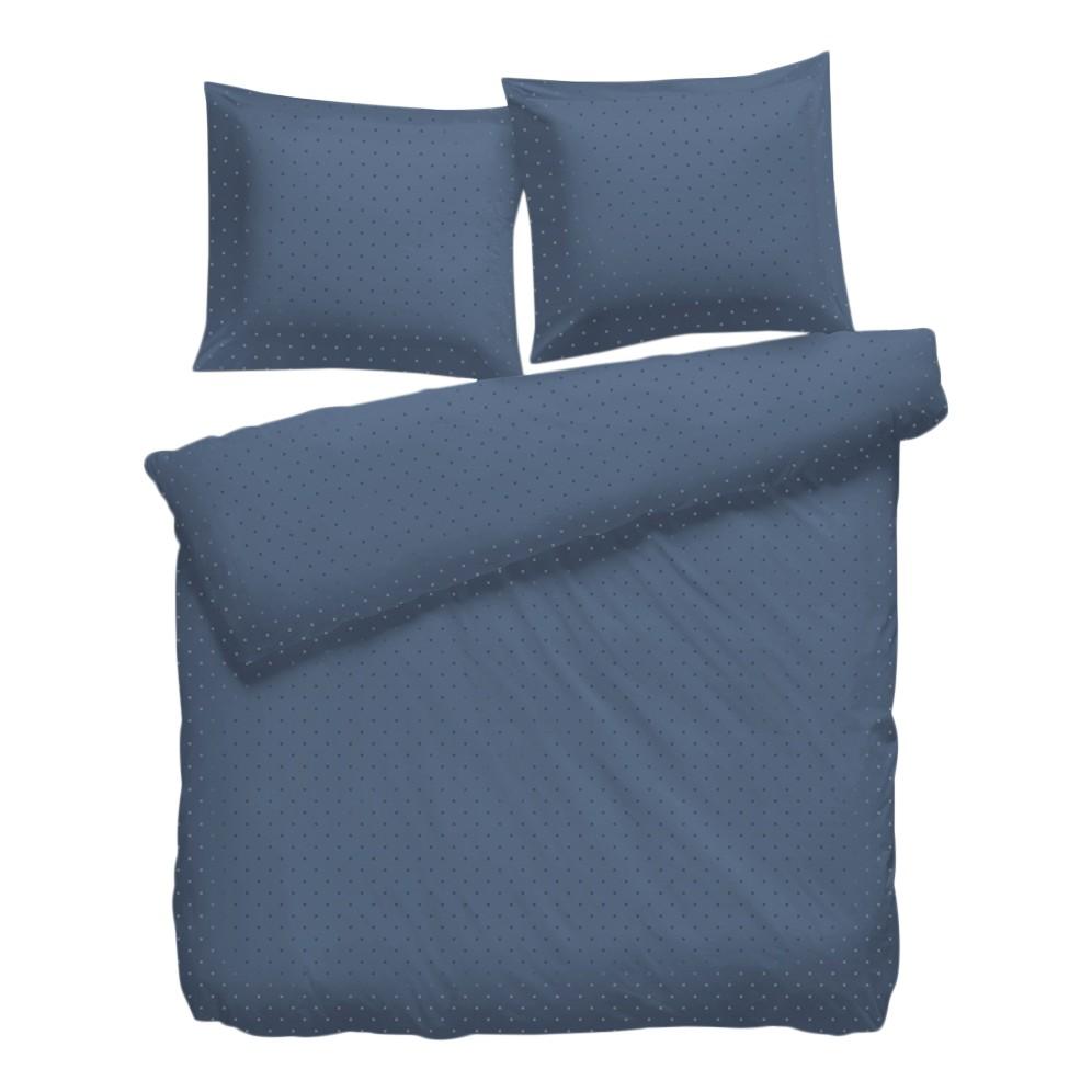 Bettwäsche Puntini - Baumwollstoff Jeansblau 260 x 220 cm + 2 Kissen 60 70 jetztbilligerkaufen