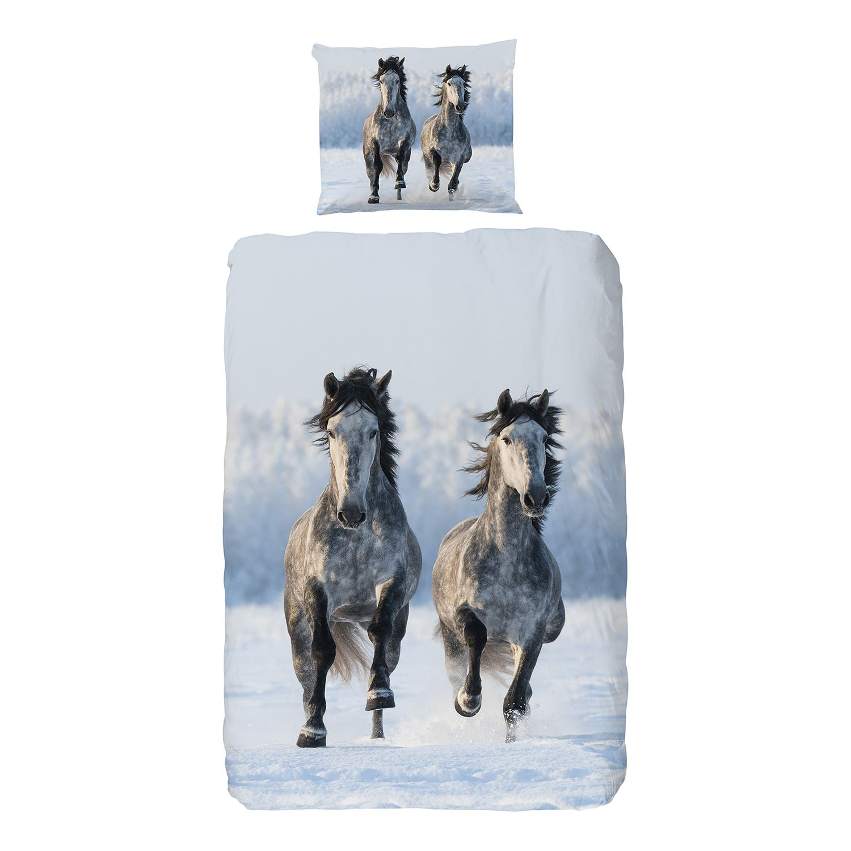 Bettwaesche Snowhorses