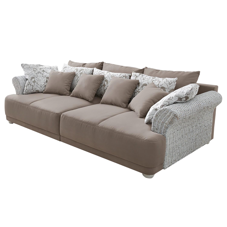 Grand canapé Maunby - Tissé à plat / Tissu structuré, Home Design