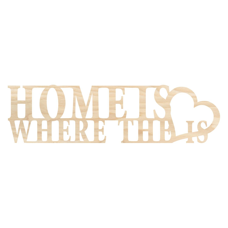 Wandobjekt Home Is Where