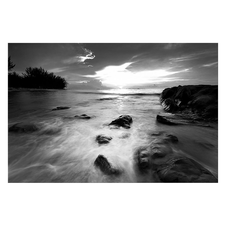 Bild Seaview - Leinwand - Schwarz / Weiß, Wandb...