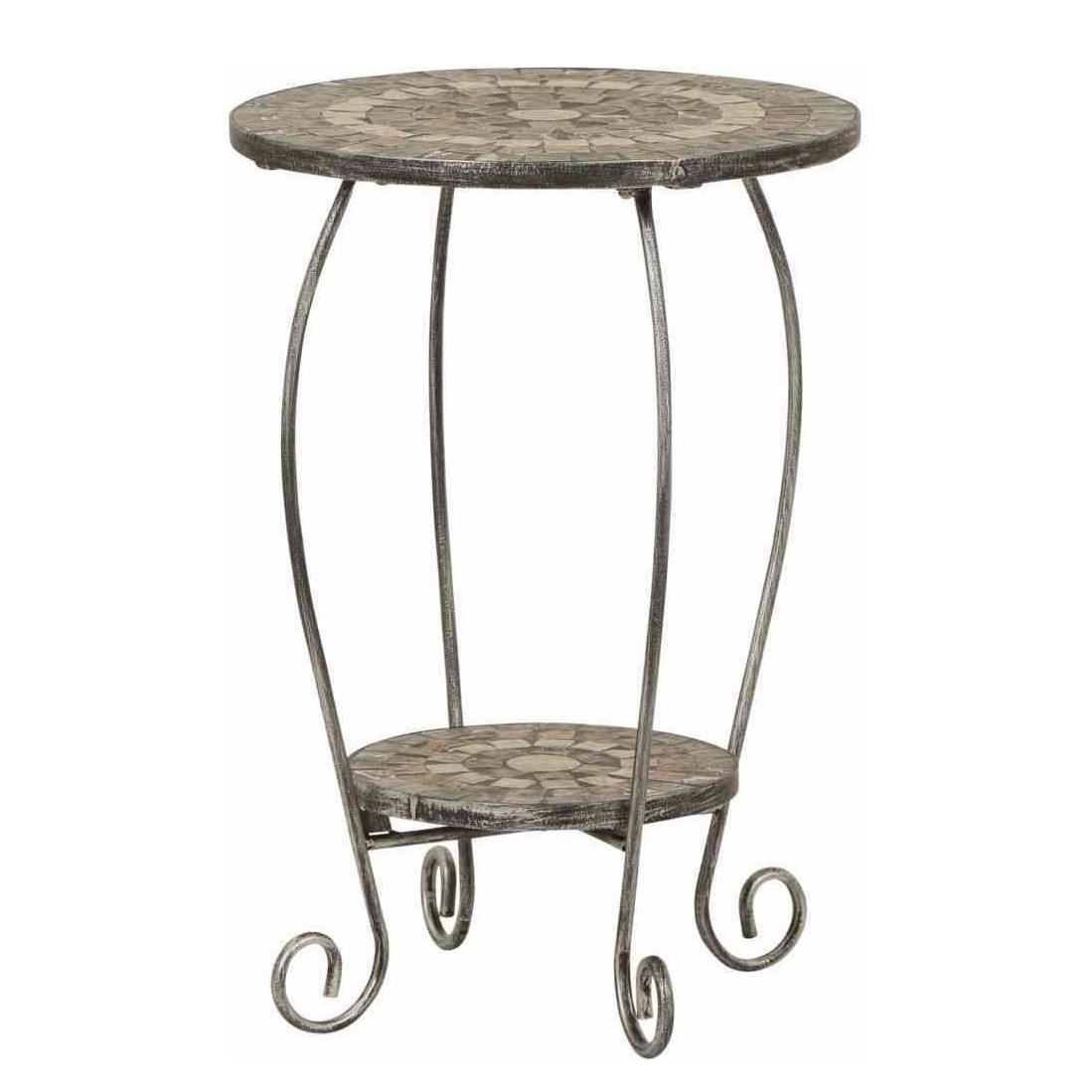home24 Blumenstaender Felina | Dekoration > Dekopflanzen | Silber | Metall - Stein | Siena Garden