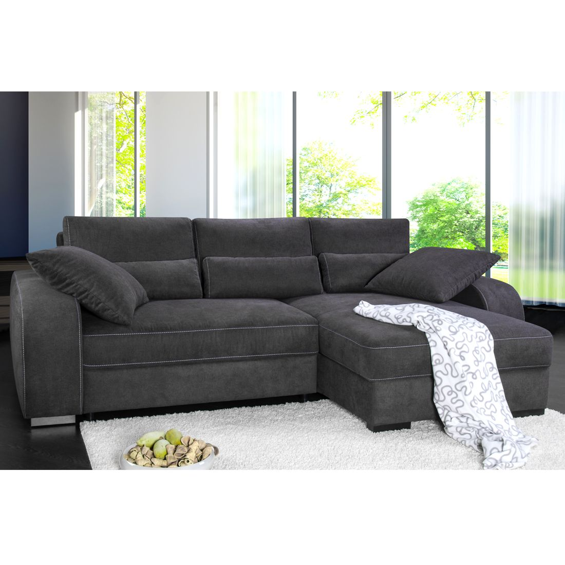 8 sparen boxspring ecksofa comox von fredriks nur cherry m bel home24. Black Bedroom Furniture Sets. Home Design Ideas