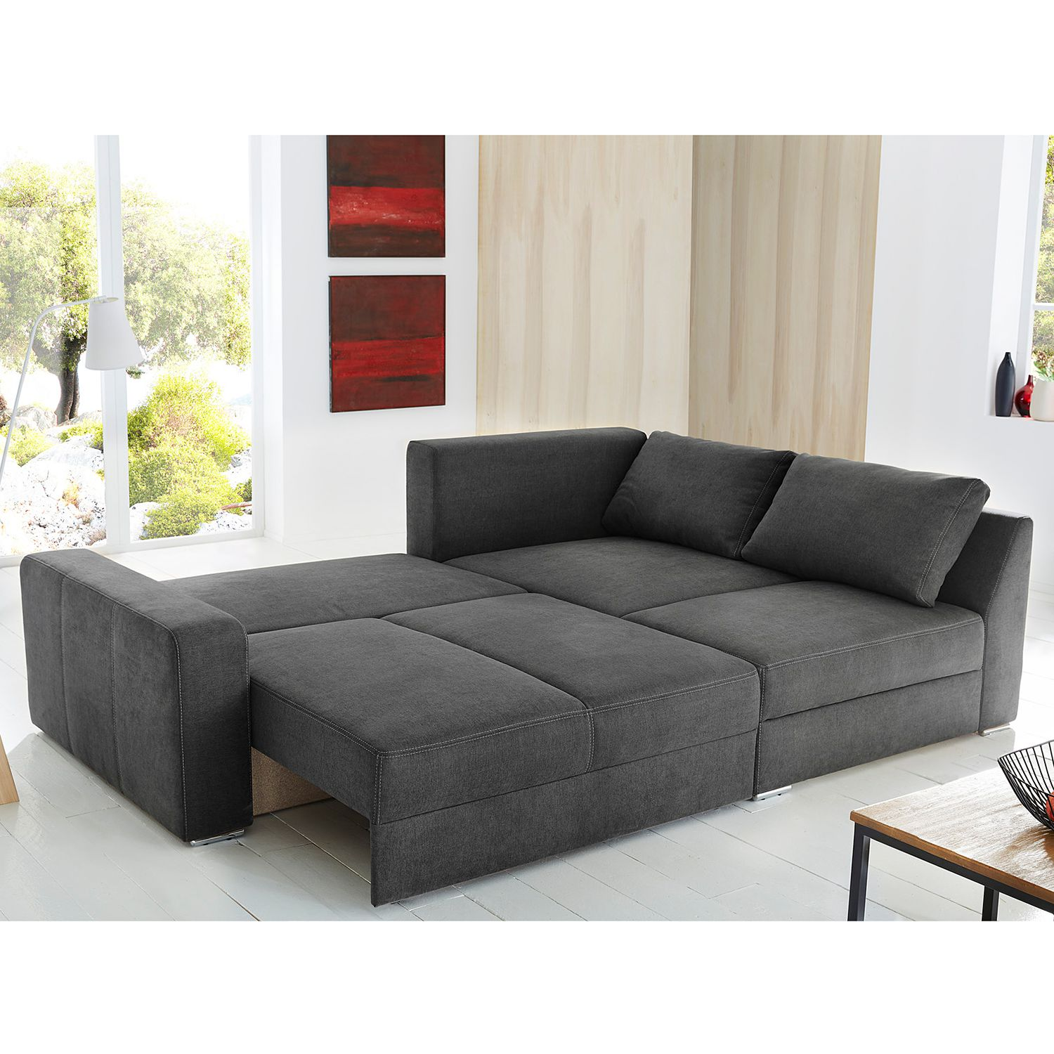 ecksofa mit 2 ottomanen wohn design. Black Bedroom Furniture Sets. Home Design Ideas