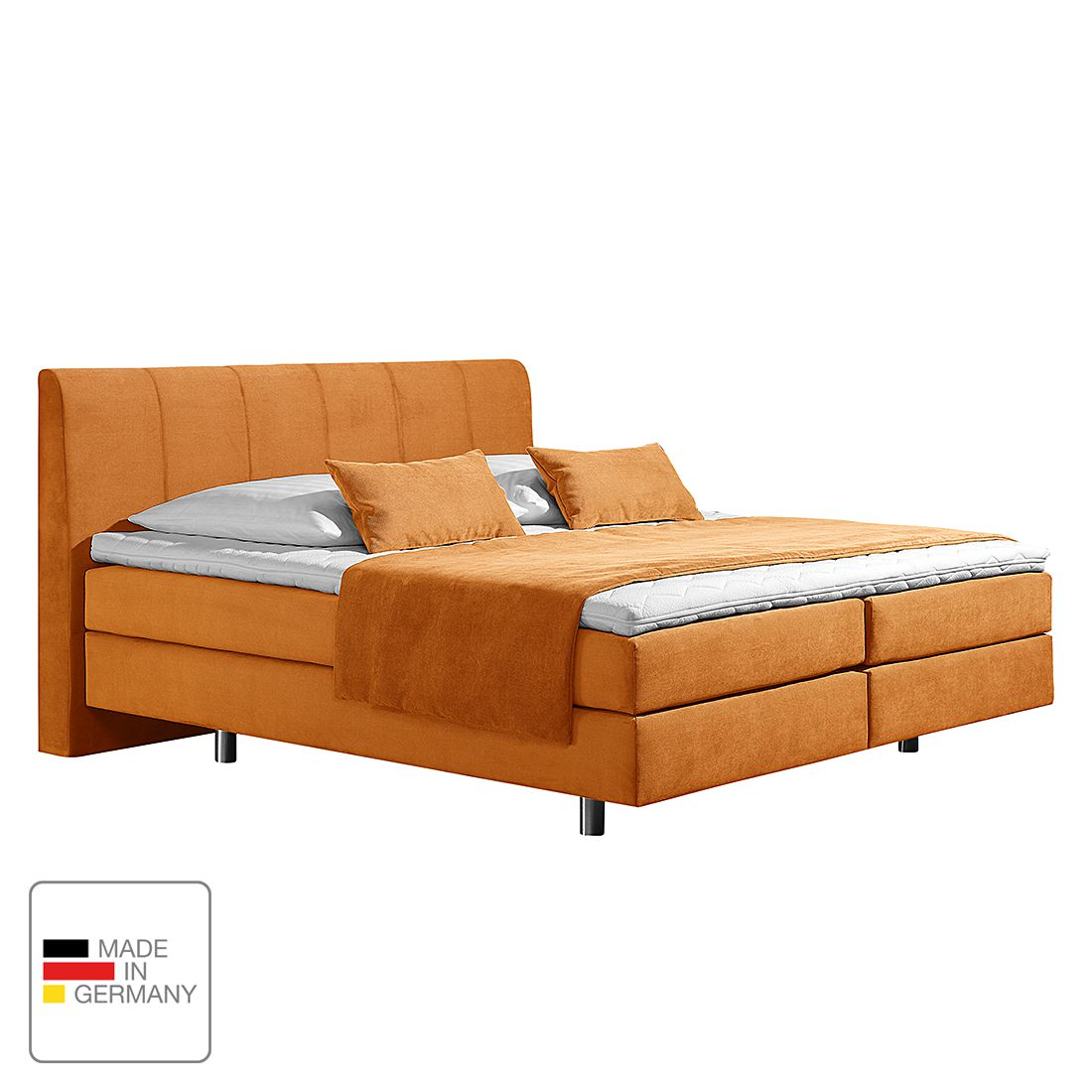 home24 Boxspringbett Baila | Schlafzimmer > Betten > Boxspringbetten | Gelb | Textil | loftscape