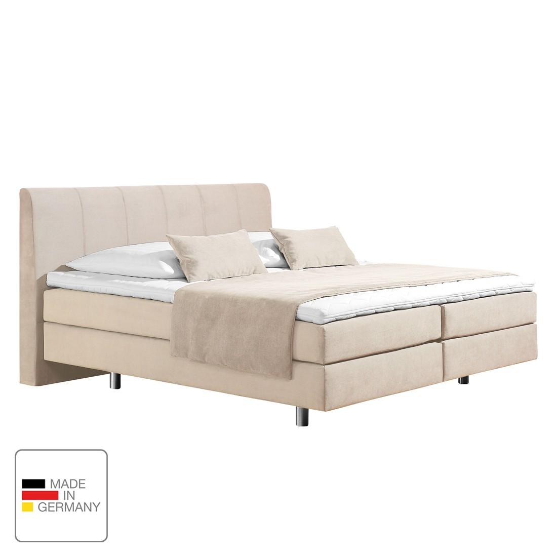 home24 Boxspringbett Baila   Schlafzimmer > Betten > Boxspringbetten   Beige   Textil   loftscape