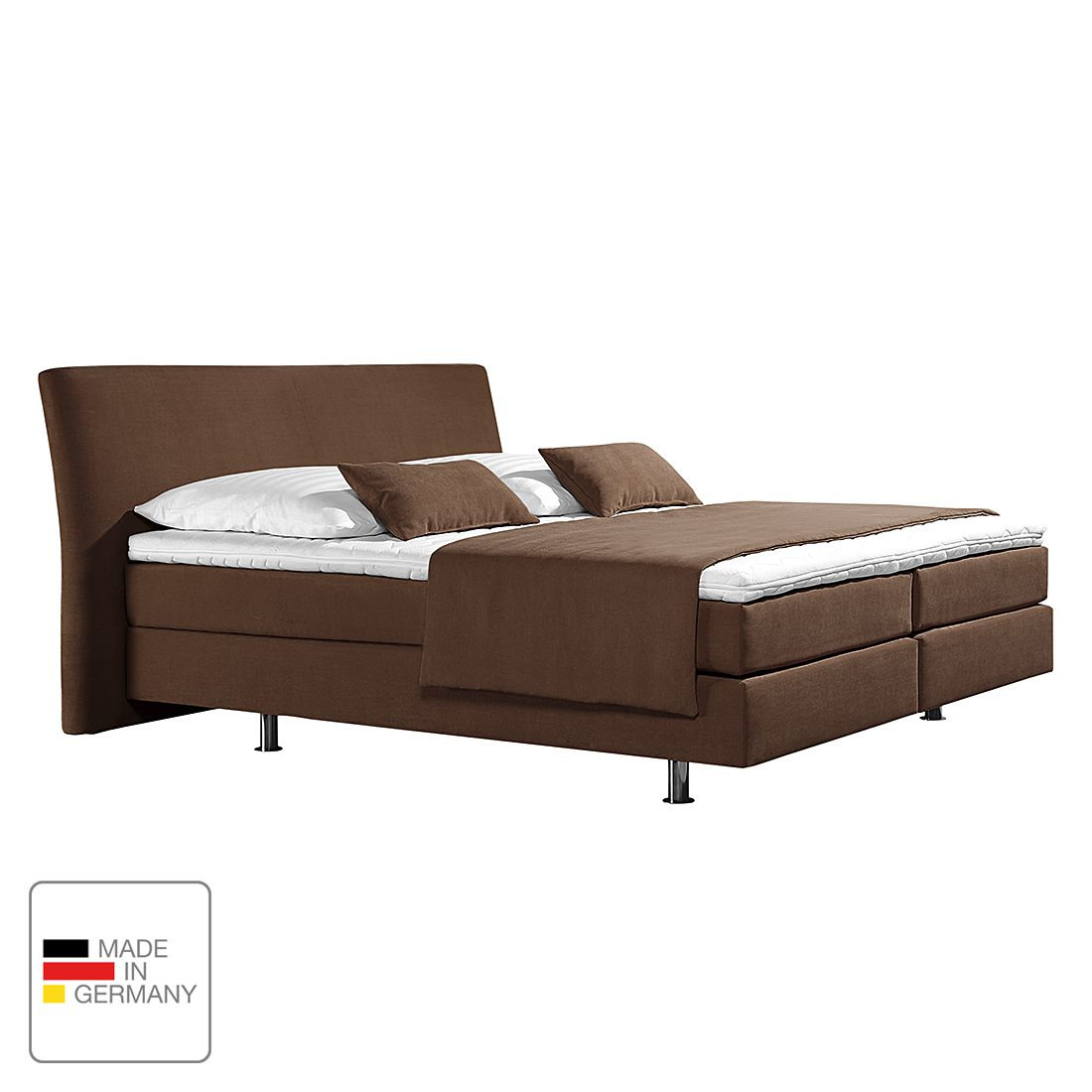 home24 Boxspringbett Cadis   Schlafzimmer > Betten > Boxspringbetten   Braun   loftscape
