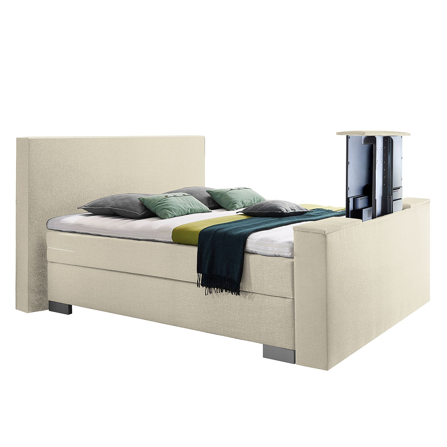 goedkoop Boxspring Emperial Night II 180 x 200cm H2 tot 80kg Bonellvering Crème Grand Selection