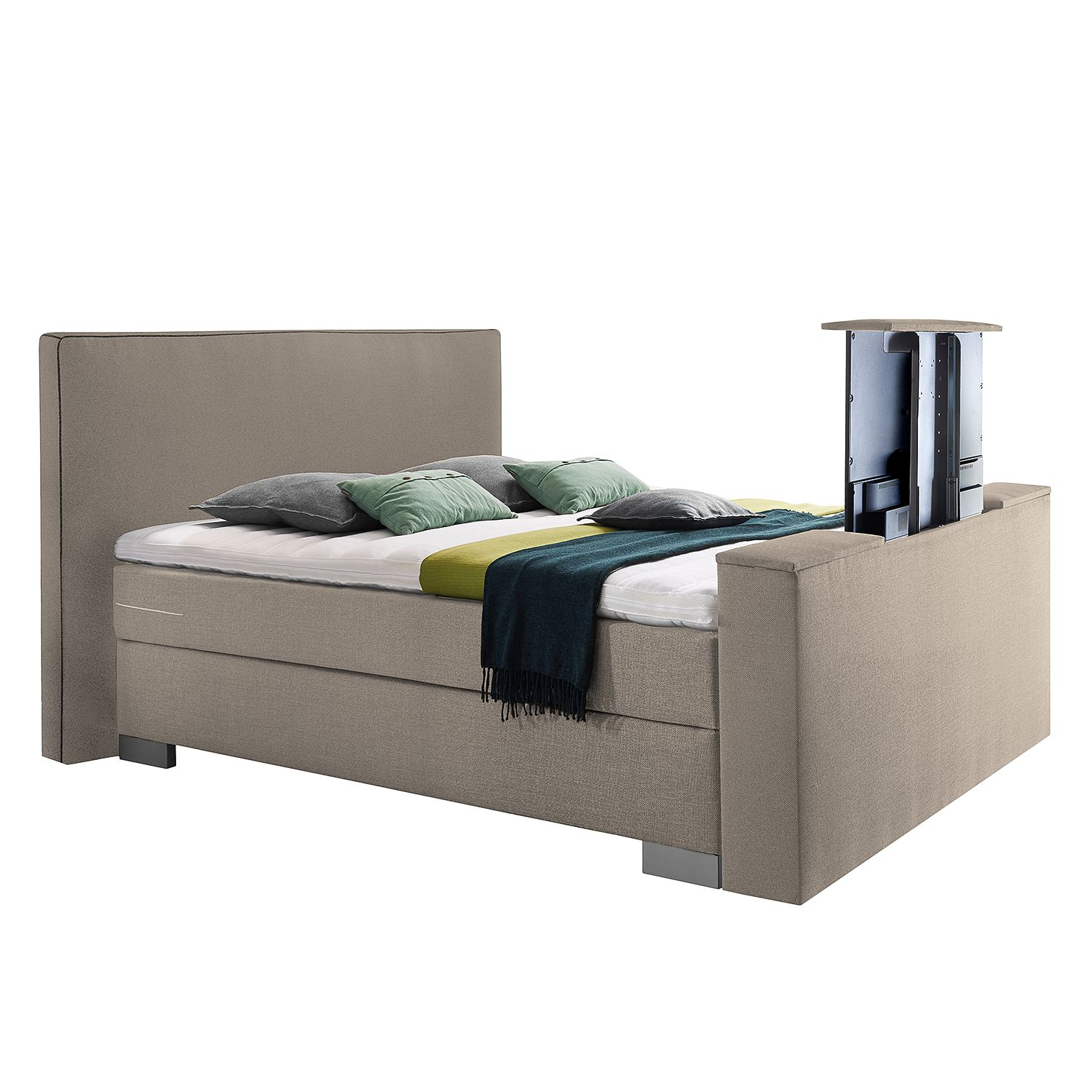 goedkoop Boxspring Emperial Night III 160 x 200cm H2 tot 80kg Bonellvering Gemêleerd beige Grand Selection