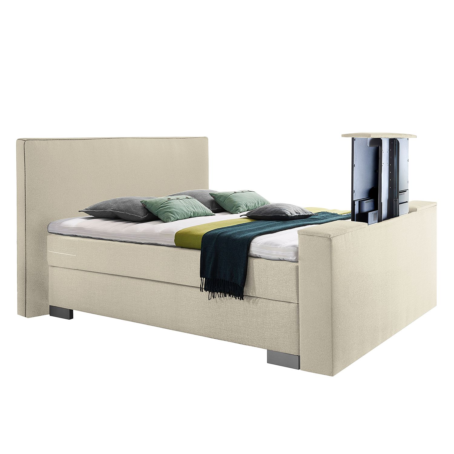 goedkoop Boxspring Emperial Night III 200 x 200cm H2 tot 80kg Bonellvering Crème Grand Selection