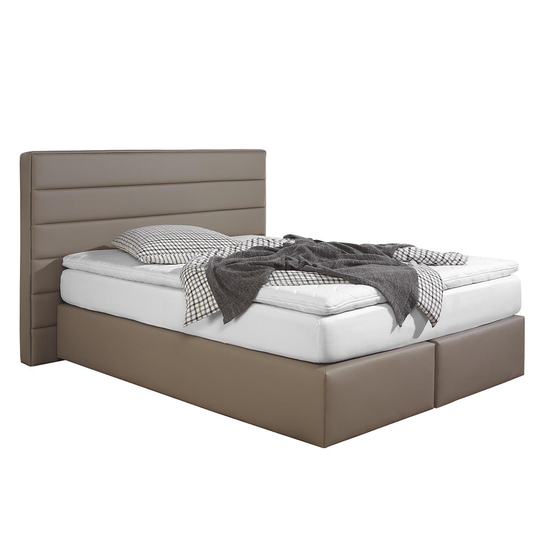 home24 Boxspringbett Ingebo Kunstleder | Schlafzimmer | Braun | Kunstleder | loftscape
