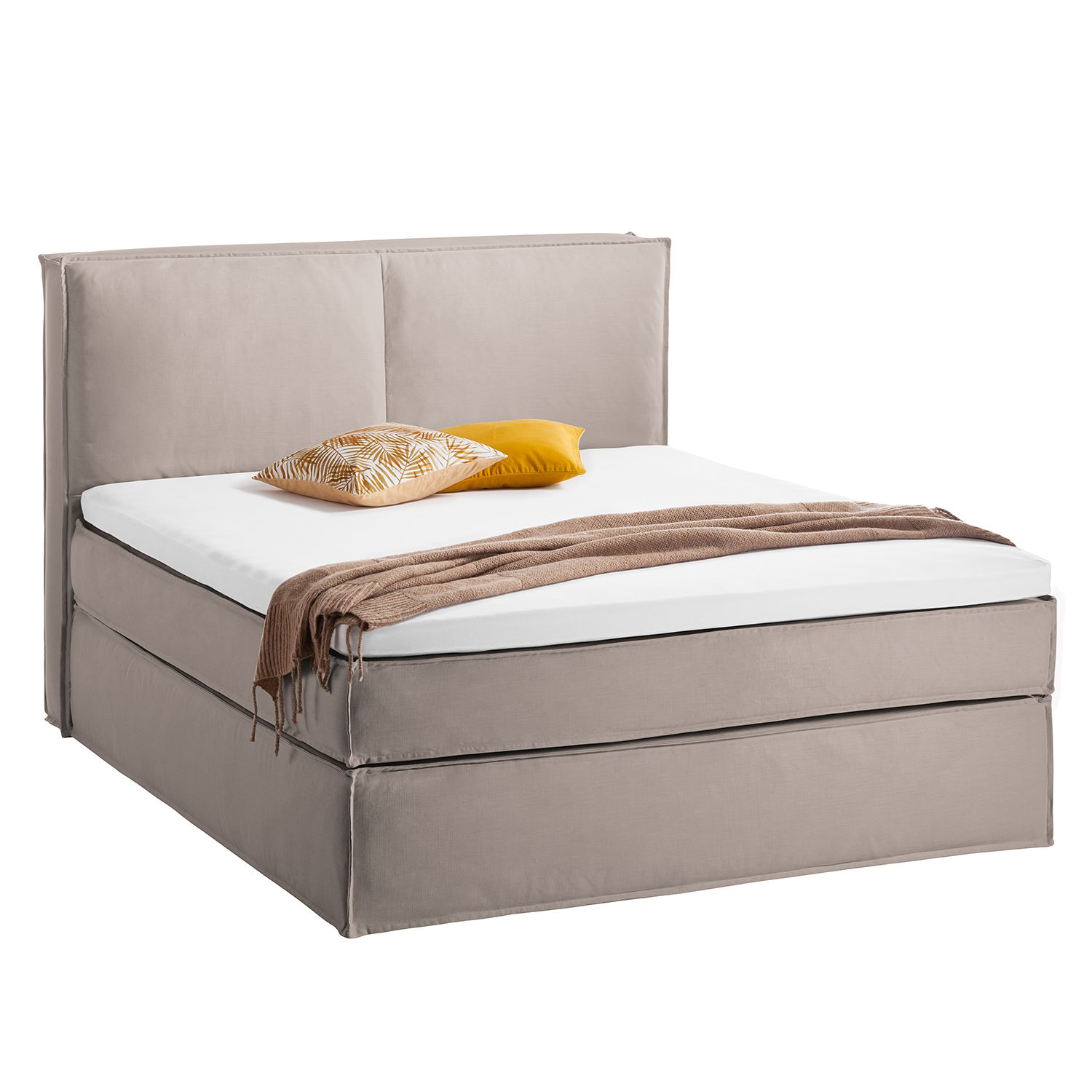 goedkoop Boxspring Kinx katoen Eva Padberg limited edition Taupe Eva Padberg Collection
