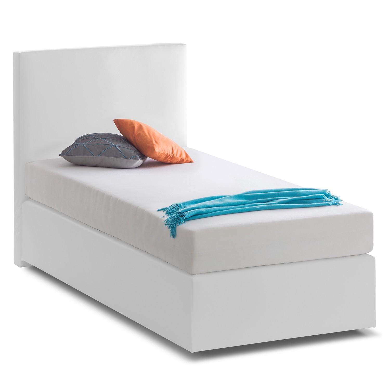Lit boxspring KiYDOO I - Imitation cuir - 90 x 200cm - Blanc, mooved