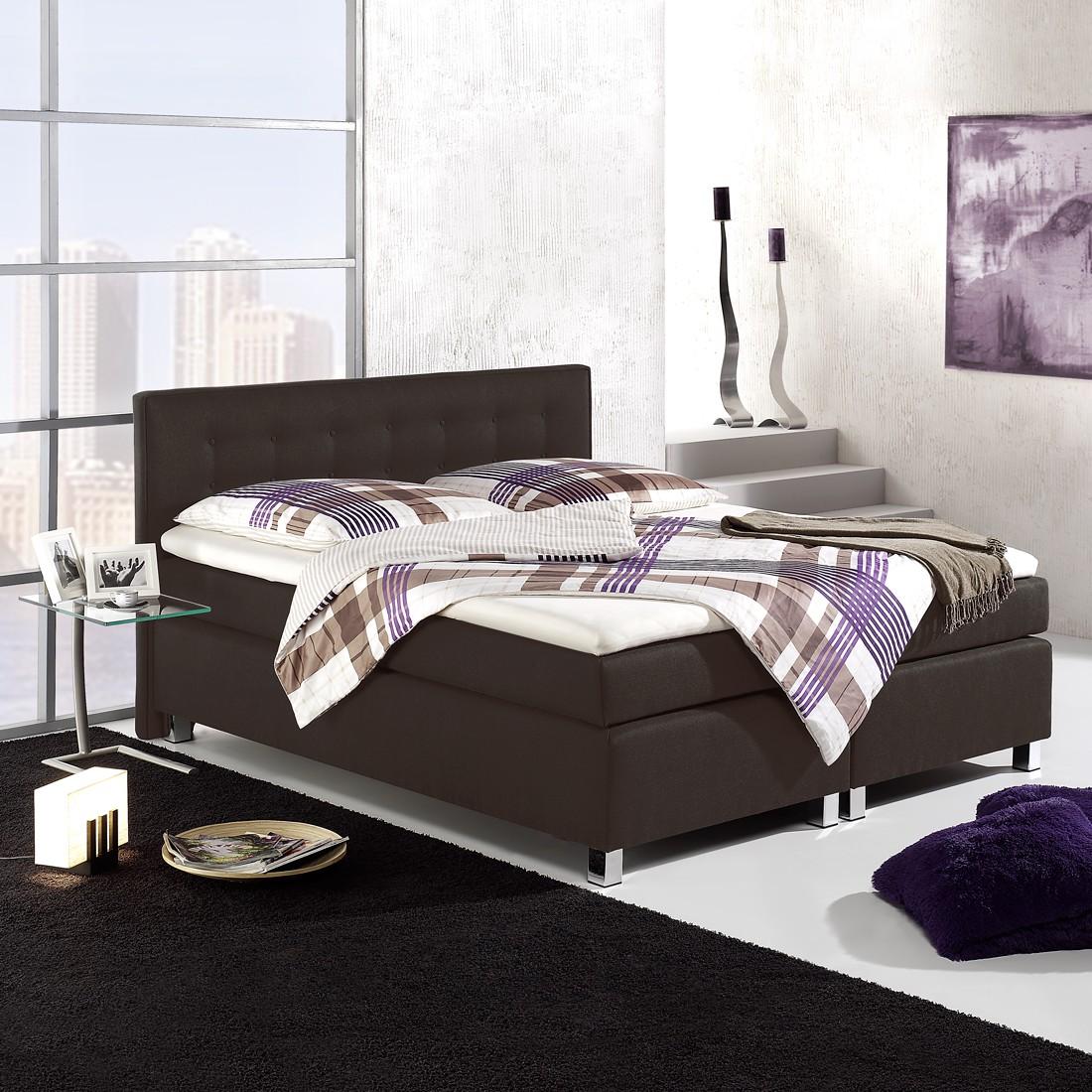 home24 Boxspringbett Melody | Schlafzimmer > Betten > Boxspringbetten | Grau | loftscape