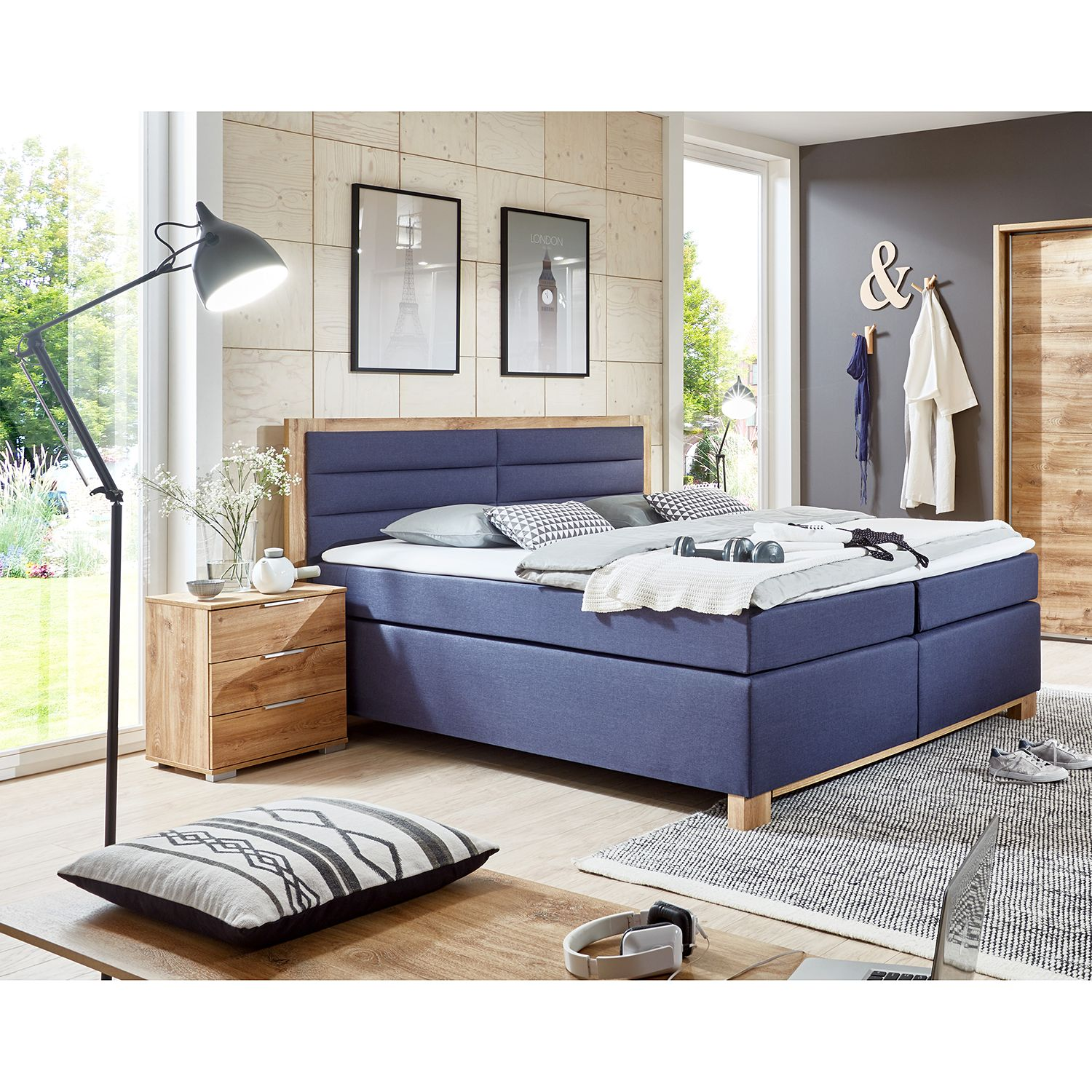 17 sparen boxspringbett ohio von wimex nur 999 99 cherry m bel home24. Black Bedroom Furniture Sets. Home Design Ideas
