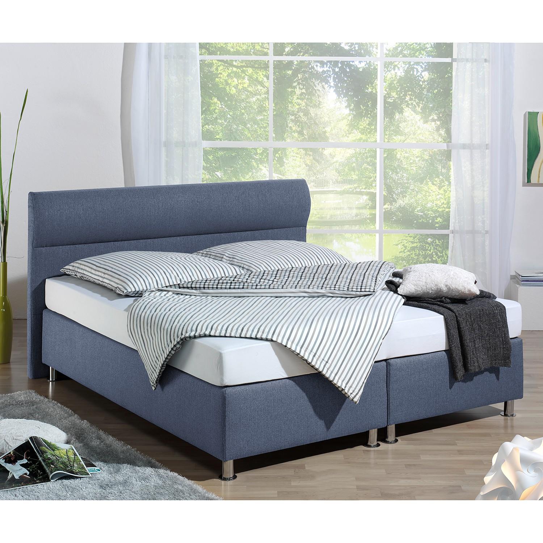 home24 Boxspringbett Salmi | Schlafzimmer > Betten > Boxspringbetten | Blau | loftscape