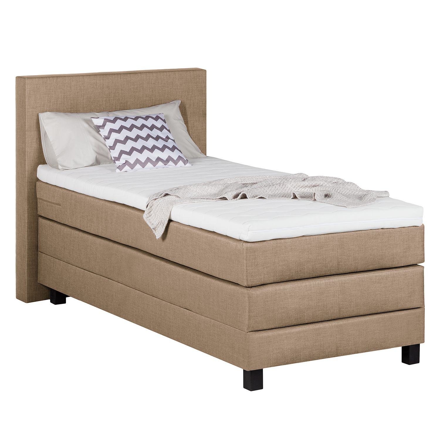 goedkoop Boxspring Superior Night II 100 x 200cm H2 tot 80kg Gemêleerd beige Grand Selection