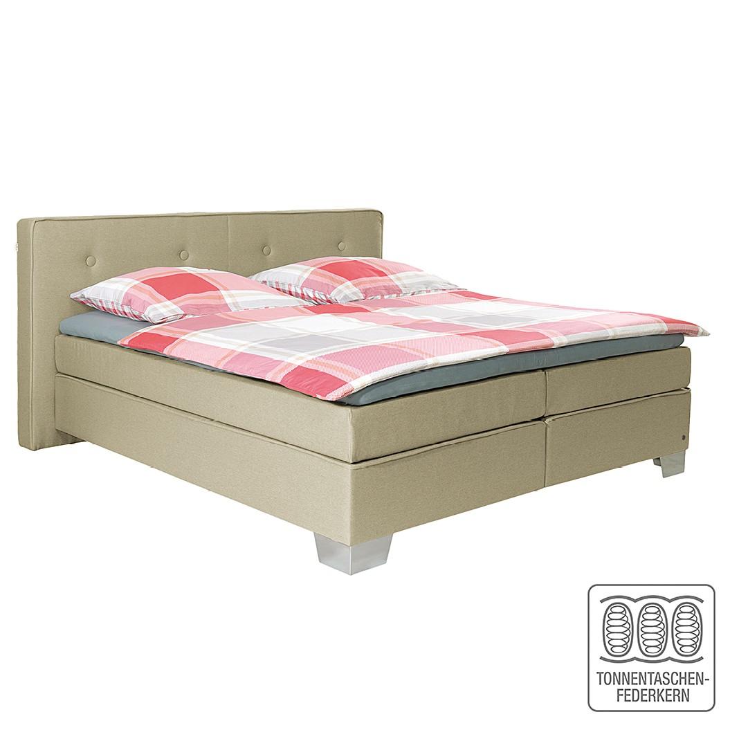 goedkoop Boxspring Soft Box geweven stof 140 x 200cm H2 tot 80kg Cappuccinokleurig Tom Tailor