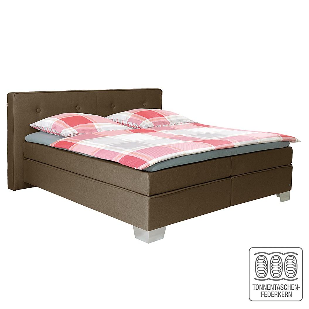 Boxspringbett Soft Box - Webstoff - 140 x 200cm - H3 ab 80 kg - Braun, Tom Tailor