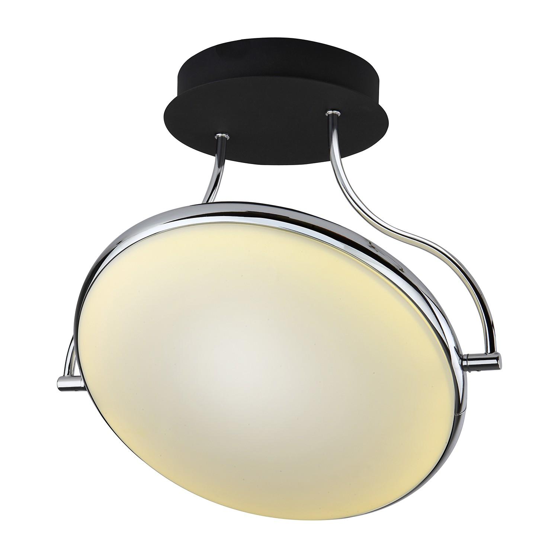 EEK A+, Plafonnier LED Double Shine I - Matière synthétique / Fer - 1 ampoule - Noir / Chrome, Brilliant Living