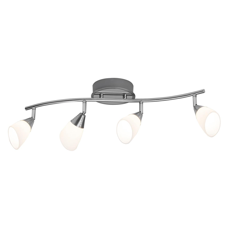 EEK A+, Plafonnier LED Opalina - Verre opalin / Acier - 4, Brilliant