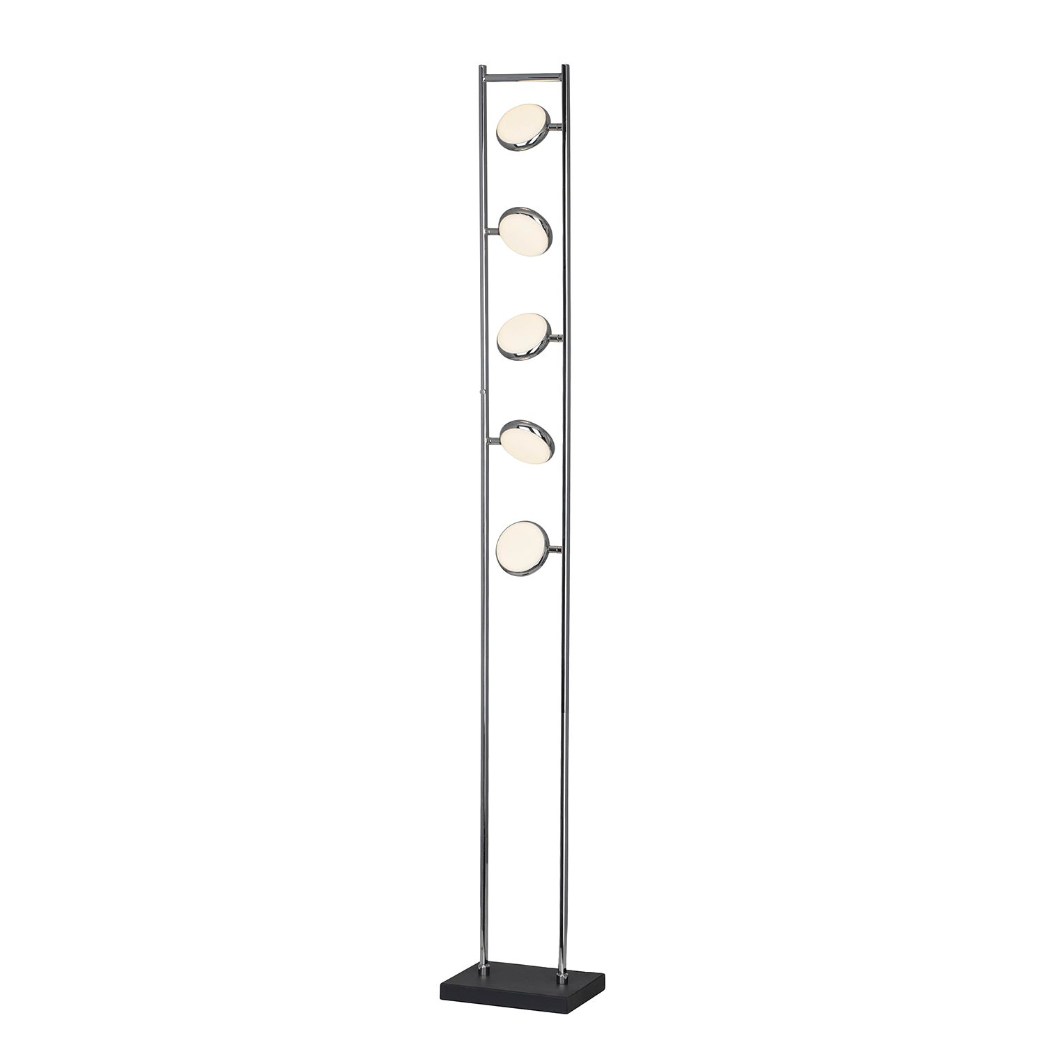 home24 LED-Stehleuchte Double Shine III