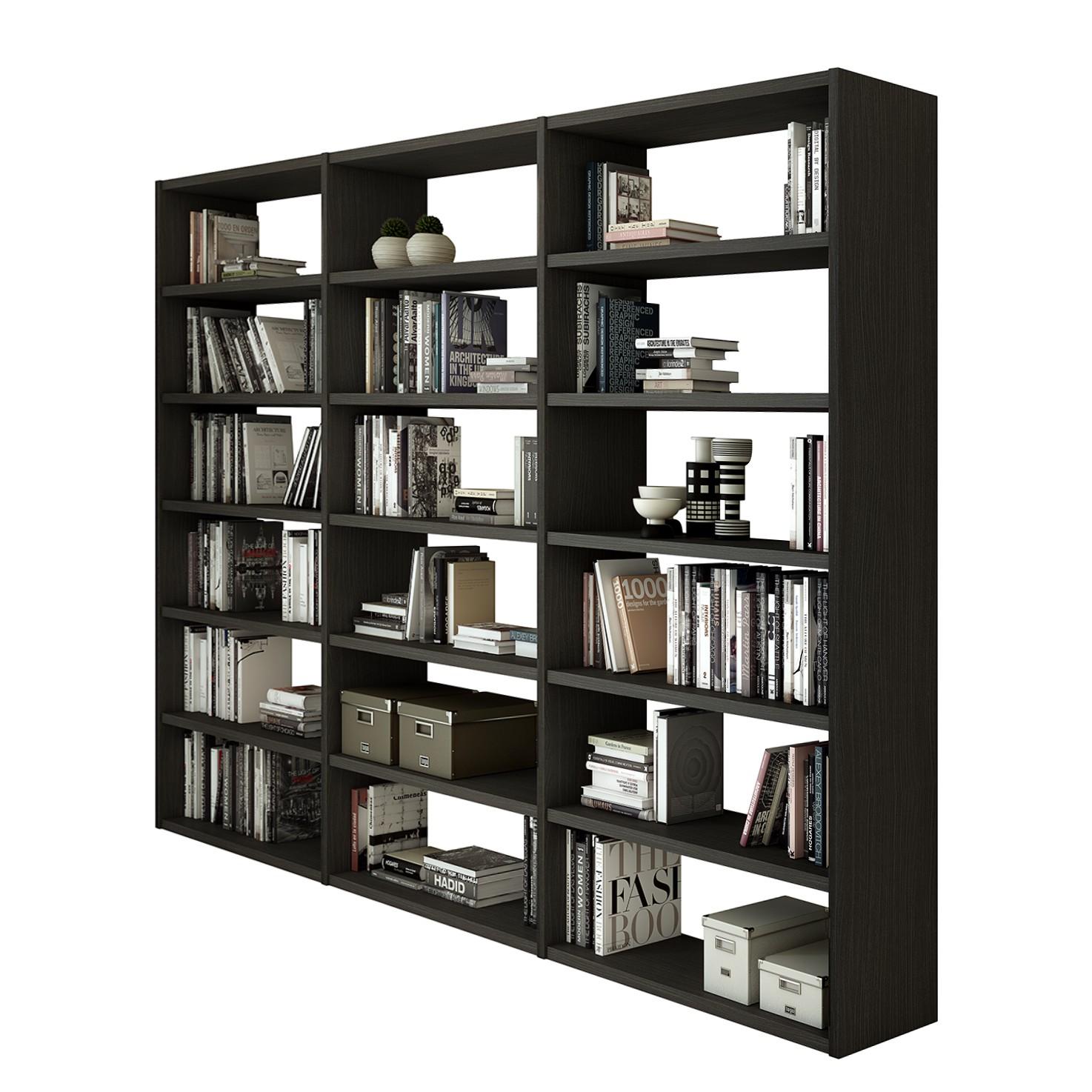 Bibliothèque Empire - Marron-noir, Fredriks