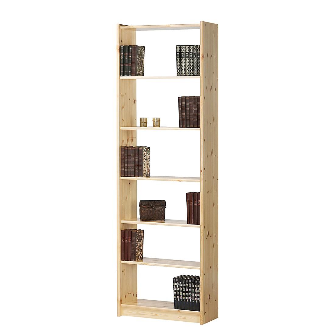 home24 Buecherregal Tomke III | Wohnzimmer > Regale > Bücherregale | Beige | Massivholz | Steens