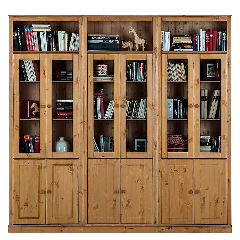 Bücherwand LILLEHAMMER III - Massivholz Kiefer