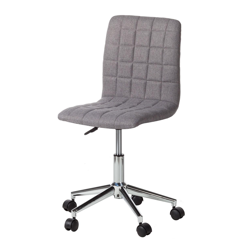 Bürodrehstuhl Arava - Webstoff / Metall - Dunkelgrau, mooved