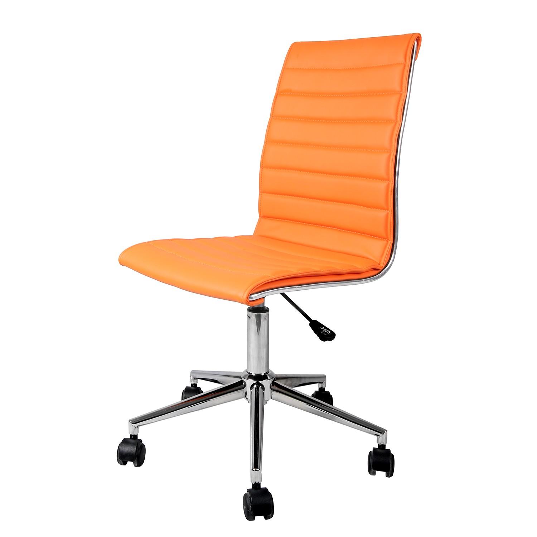 home24 Buerodrehstuhl Marilyn   Büro > Bürostühle und Sessel    Orange   Kunstleder   mooved