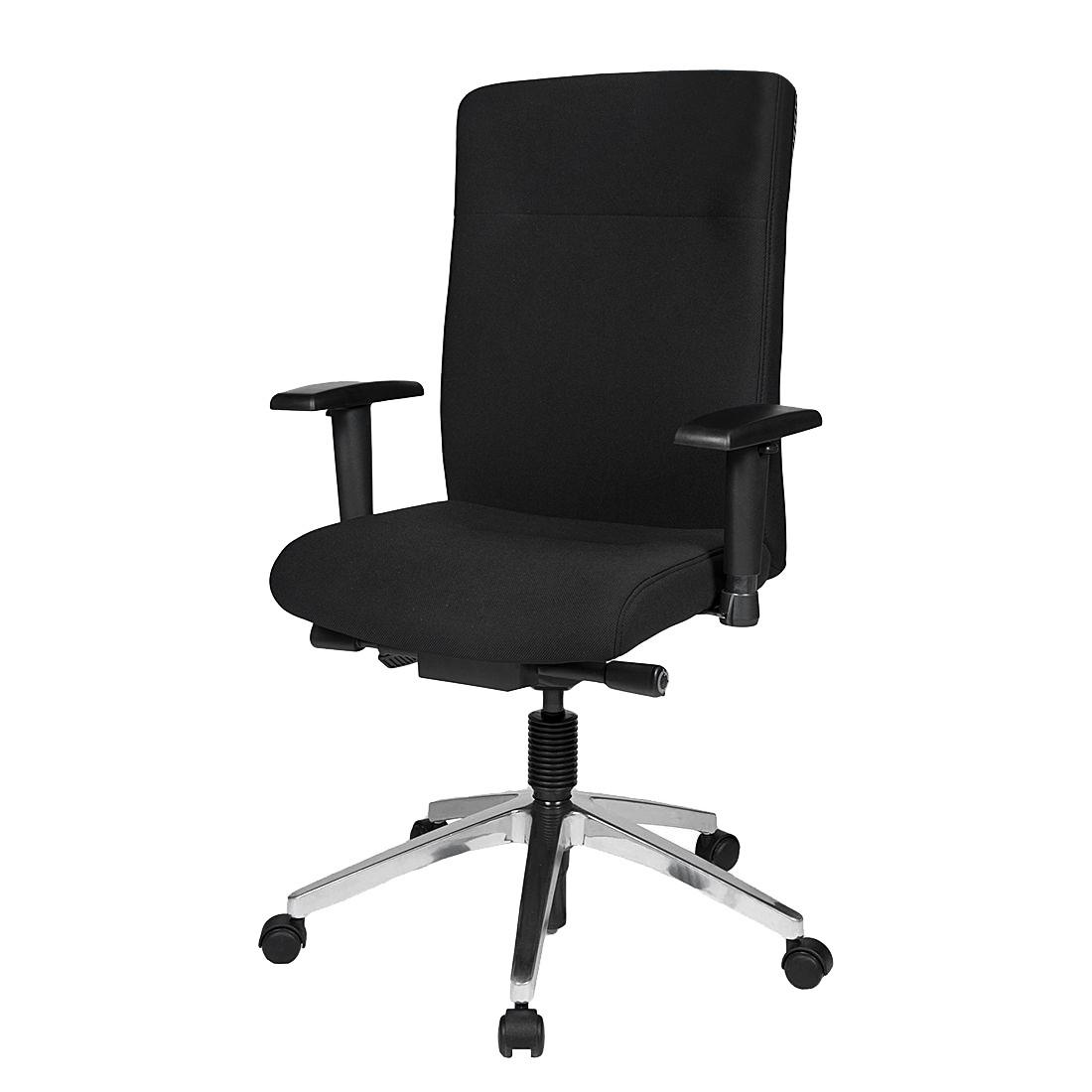 home24 Buerostuhl Linz II | Büro > Bürostühle und Sessel  > Bürostühle | Schwarz | Textil | Duo Collection