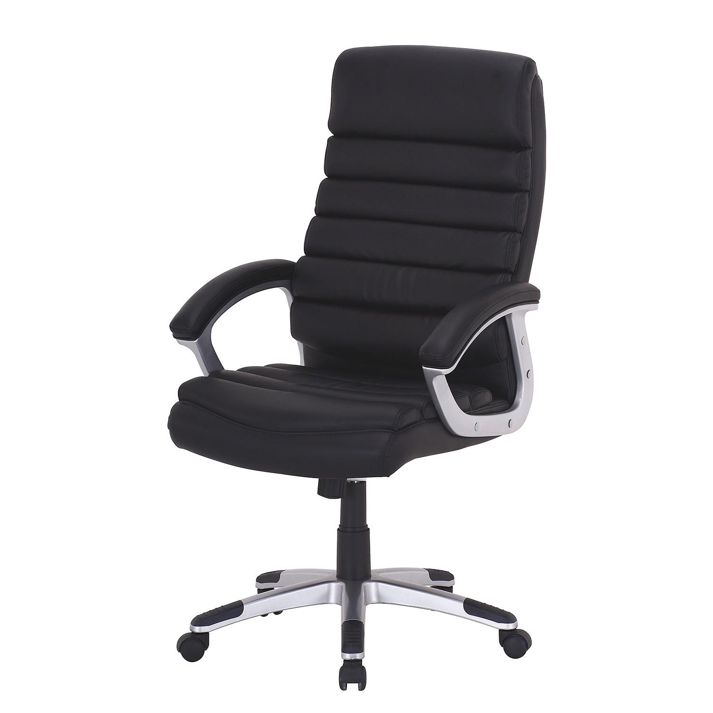 home24 Chefsessel Hatley | Büro > Bürostühle und Sessel  > Chefsessel | Schwarz | Kunstleder | home24office