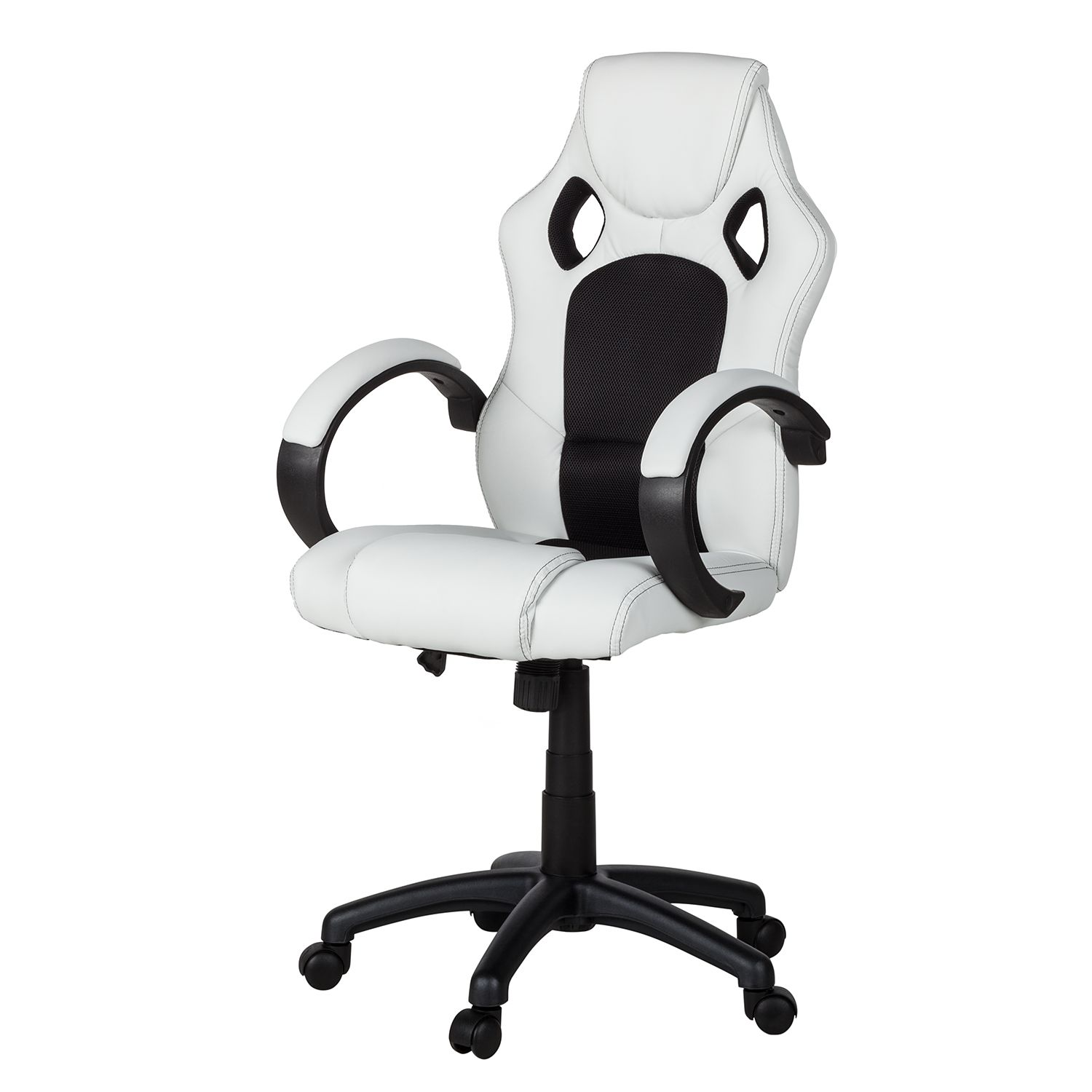 Gaming Chair Livaro - Kunstleder / Mesh - Schwa...