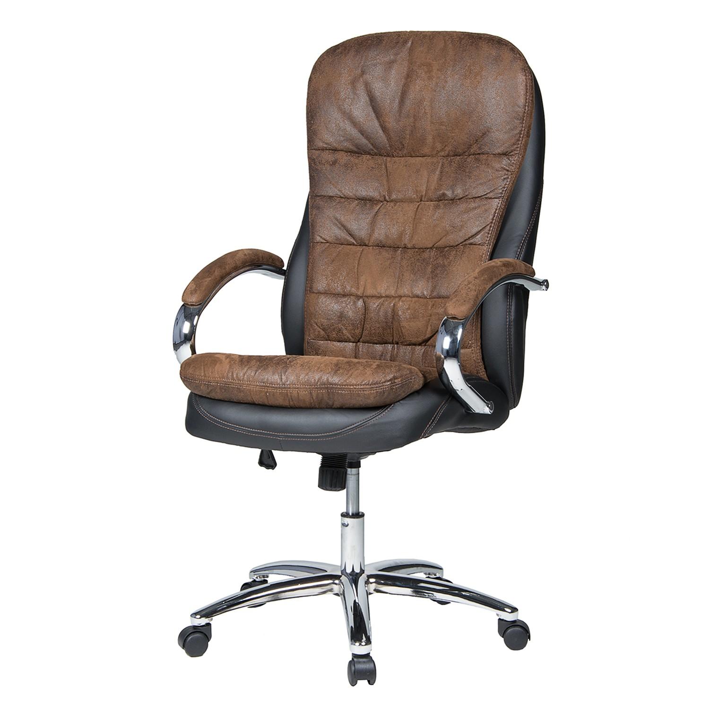 home24 Chefsessel Mads | Büro > Bürostühle und Sessel  > Chefsessel | Braun | Duo Collection