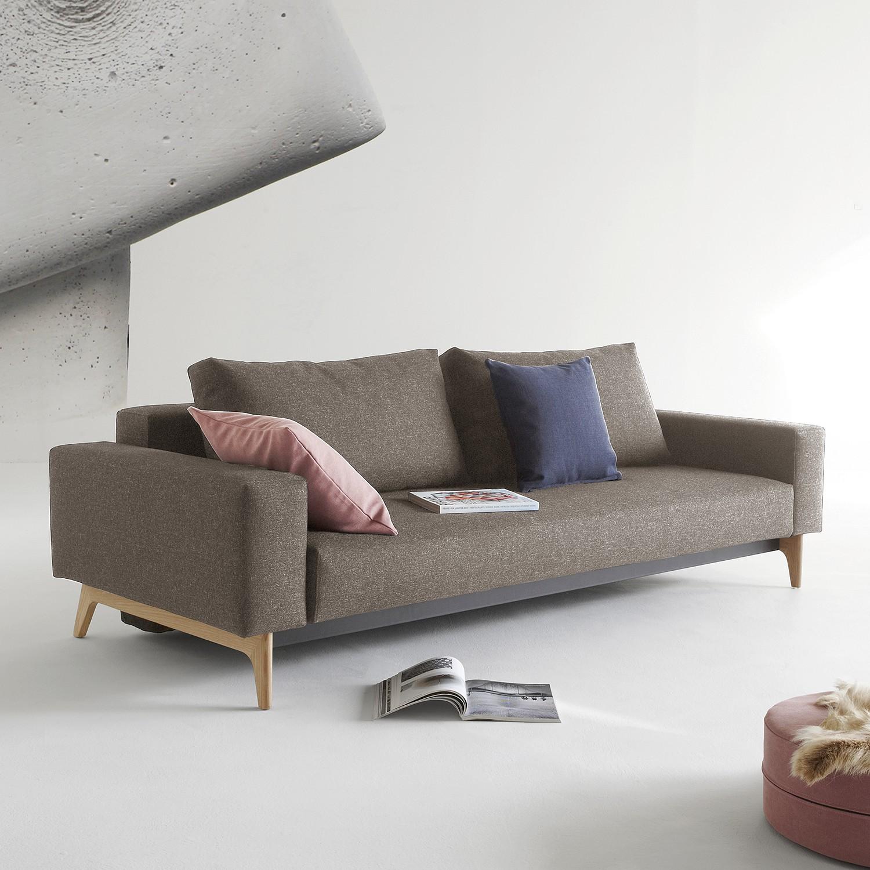 home24 Innovation Möbel Schlafsofa Idun Platin Webstoff 238x65x100 cm mit Schlaffunktion