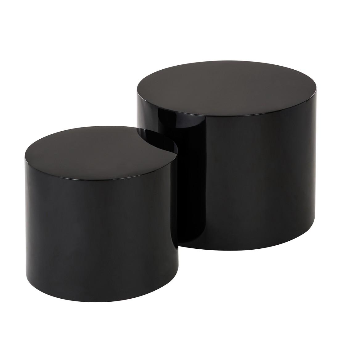 Set di tavolini Circle - Nero, Fredriks