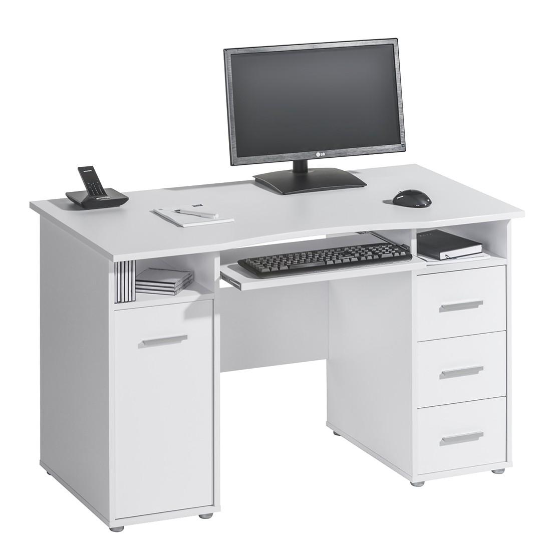 Image of Scrivania da computer Asa - Bianco - Bianco, Maja Möbel