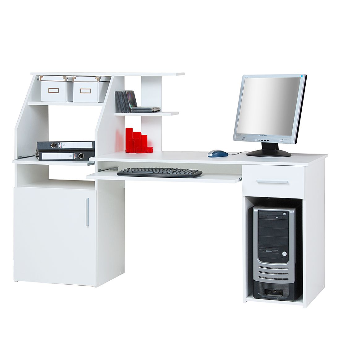 Bureau pour ordinateur Glen - Blanc perle, home24 office