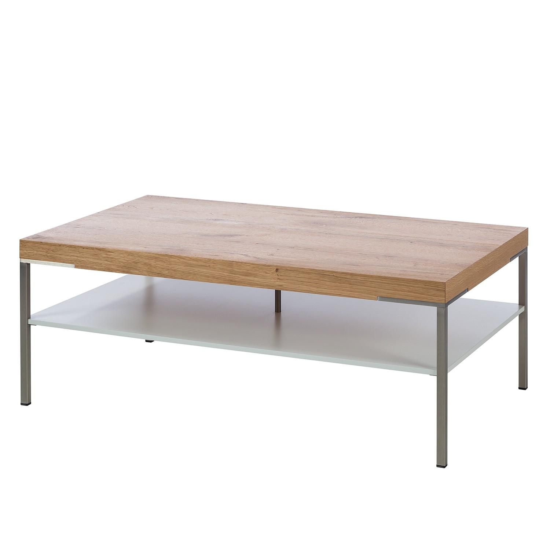 Table basse Anzio - Chêne de poutre / Mat blanc - 110 x 65 cm, Netfurn by GWINNER