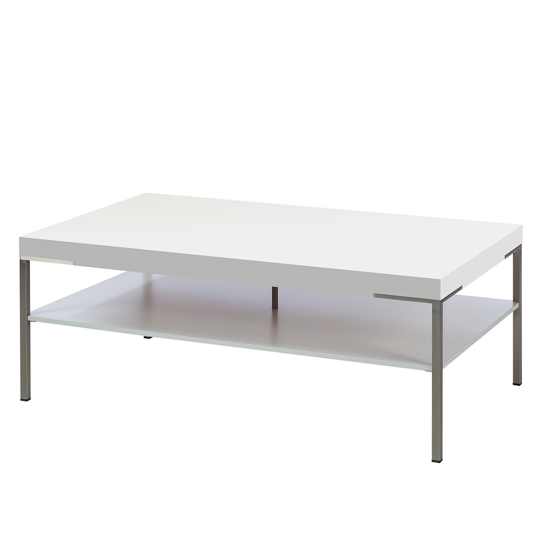 Couchtisch Anzio - Matt Weiß - 110 x 65 cm