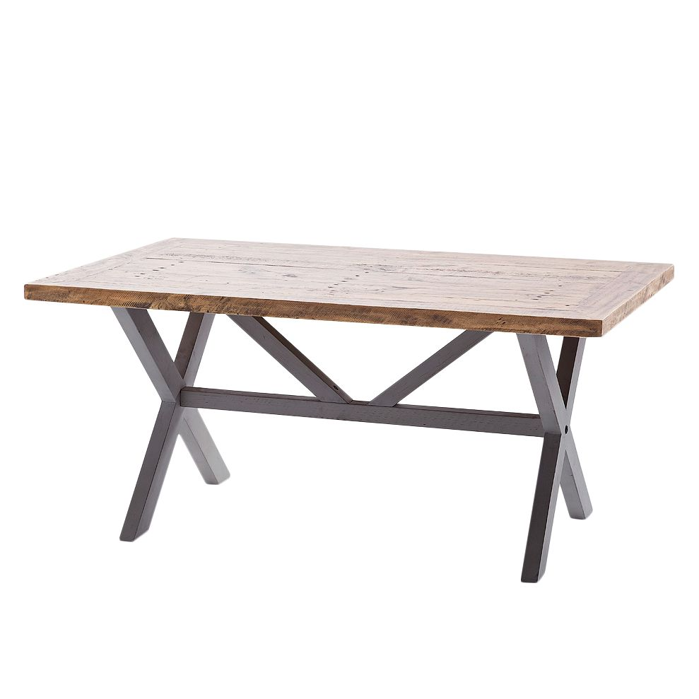 Table basse Balignton - Pin massif - Gris, Maison Belfort