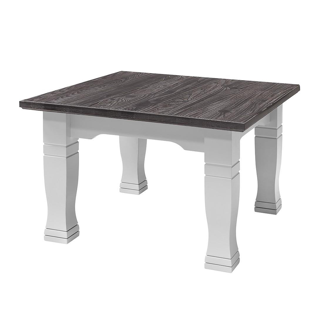 Tavolino da salotto Basilico II - Parzialmente in legno massello di abete rosso Bianco/Grigio brunastro, Maison Belfort