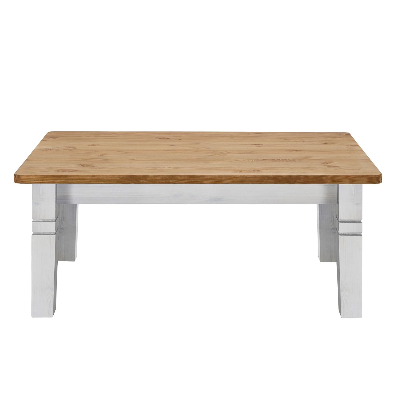 Tavolino da salotto Bergen - Legno massello di pino bianco/Color liscivia, Maison Belfort