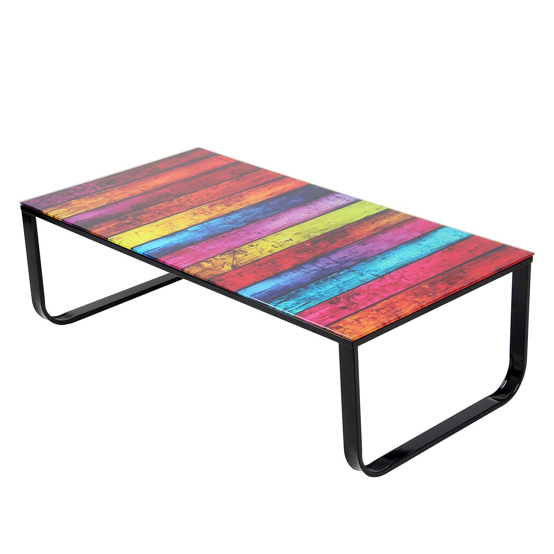 Tavolino da salotto Colorful - Vetro multicolore/Acciaio, mooved